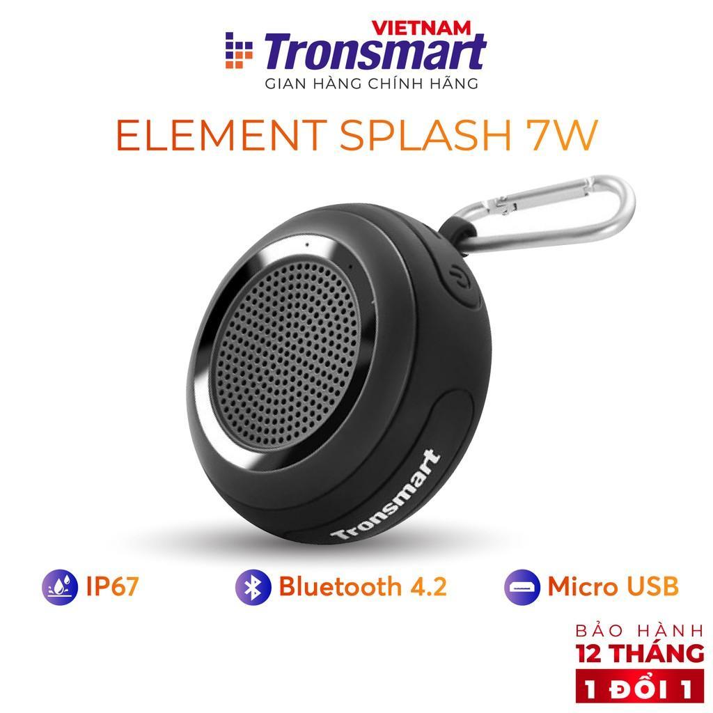 Loa Bluetooth 4.2 Tronsmart Element Splash - Âm thanh vòm 360 Công suất 7W - Hàng chính hãng - Bảo hành 12 tháng 1 đổi 1