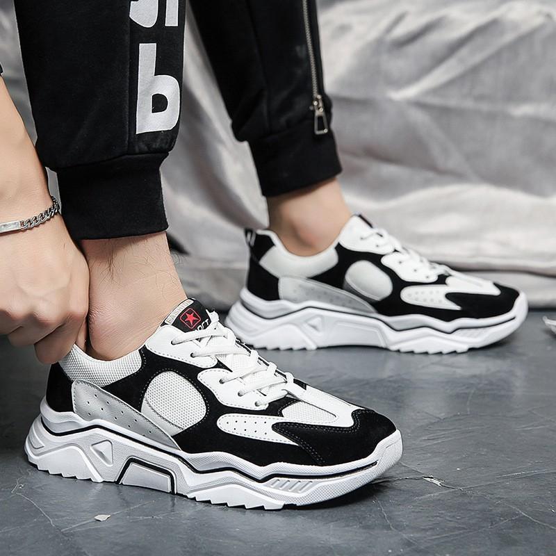 Giày thể thao nam Stay Real màu đen Ulzzang thời trang