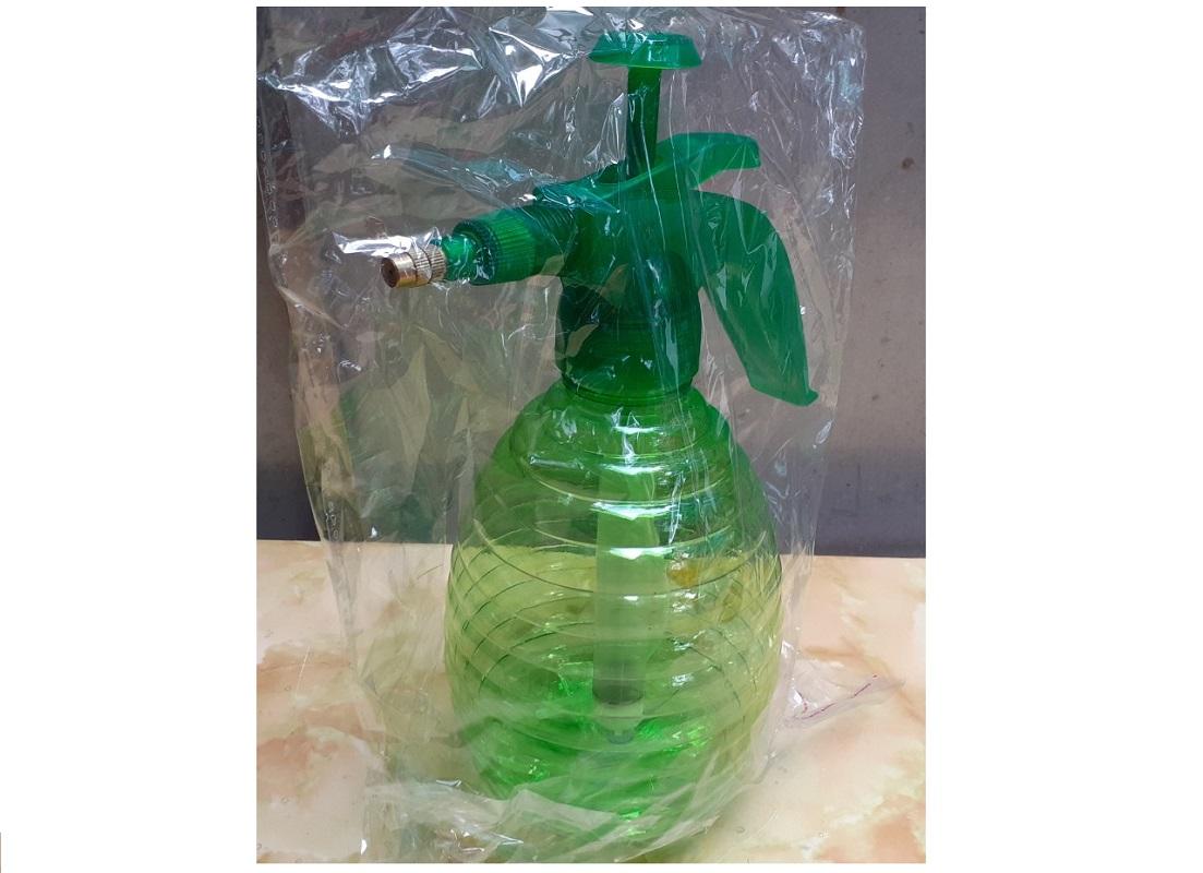 Bình Nhựa Tưới, Xịt Khí Nén Xoắn Tưới Cây Cao Cấp Dung Tích 1,5L - Màu Xanh Lá Cây
