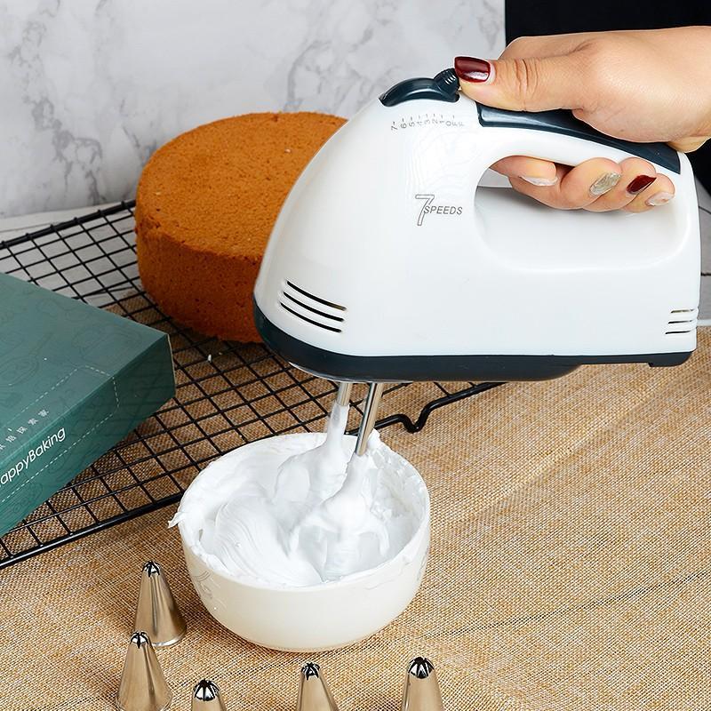 Máy Đánh Trứng Scarlett Mini Cầm Tay 7 Tốc Độ Hoạt Động Đa Năng Giúp Làm Bánh Đánh Kem - Hàng Chính Hãng
