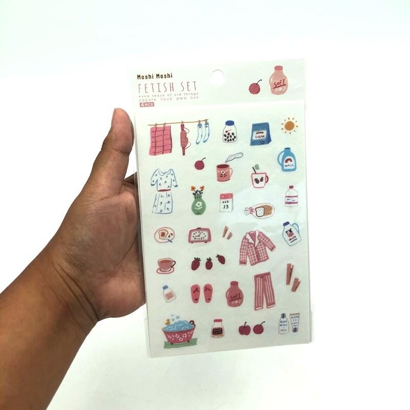 Sticker Fetish Set 009 (1x4) - Mẫu 3 - Soft Day - Màu Hồng