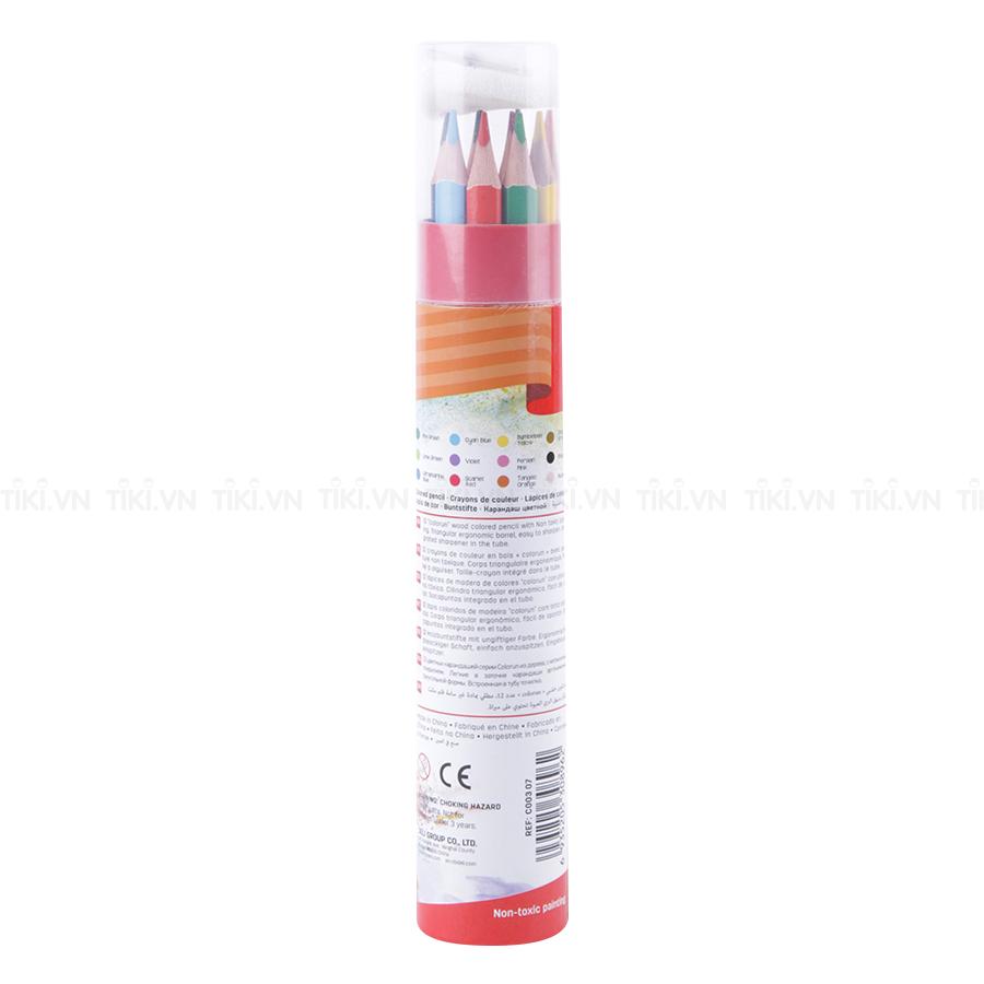 Ống Bút Chì 12 Màu Deli C00307