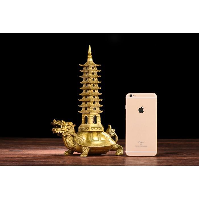 Tượng Long Quy rùa đầu rồng cõng tháp Văn Xương Hồng Thắng cỡ đại