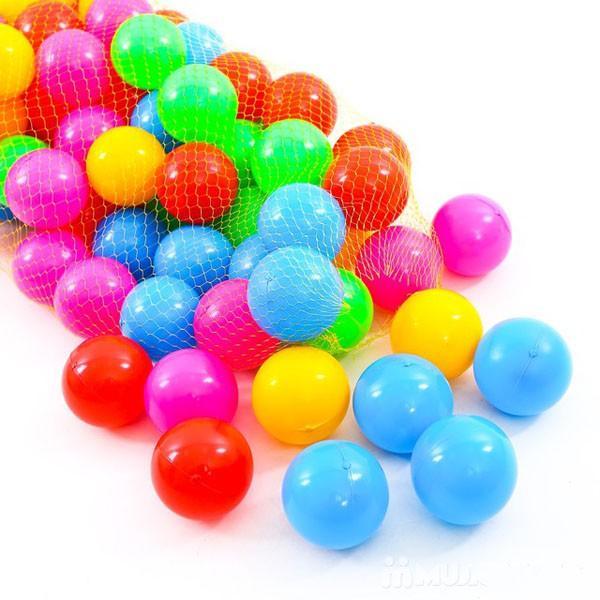 Túi 50 / Túi 100 quả bóng nhựa 8cm cho bé chơi lều bóng