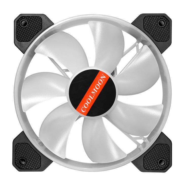 Bộ 8 Quạt + Hub Khiển Coolmoon X RGB - Hàng nhập khẩu