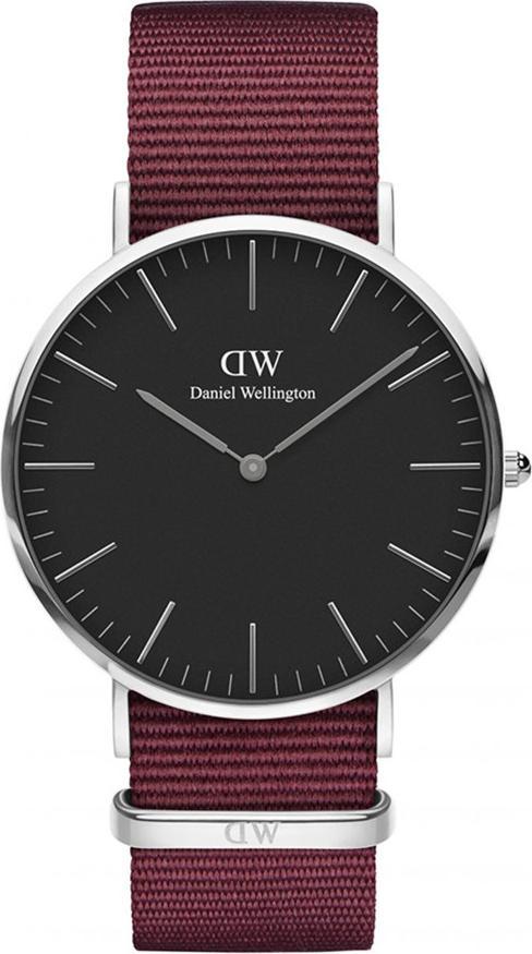 Đồng Hồ Nam Daniel Wellington DW00100270 - Tròn 2K SG Dây Vải Đỏ (40mm)