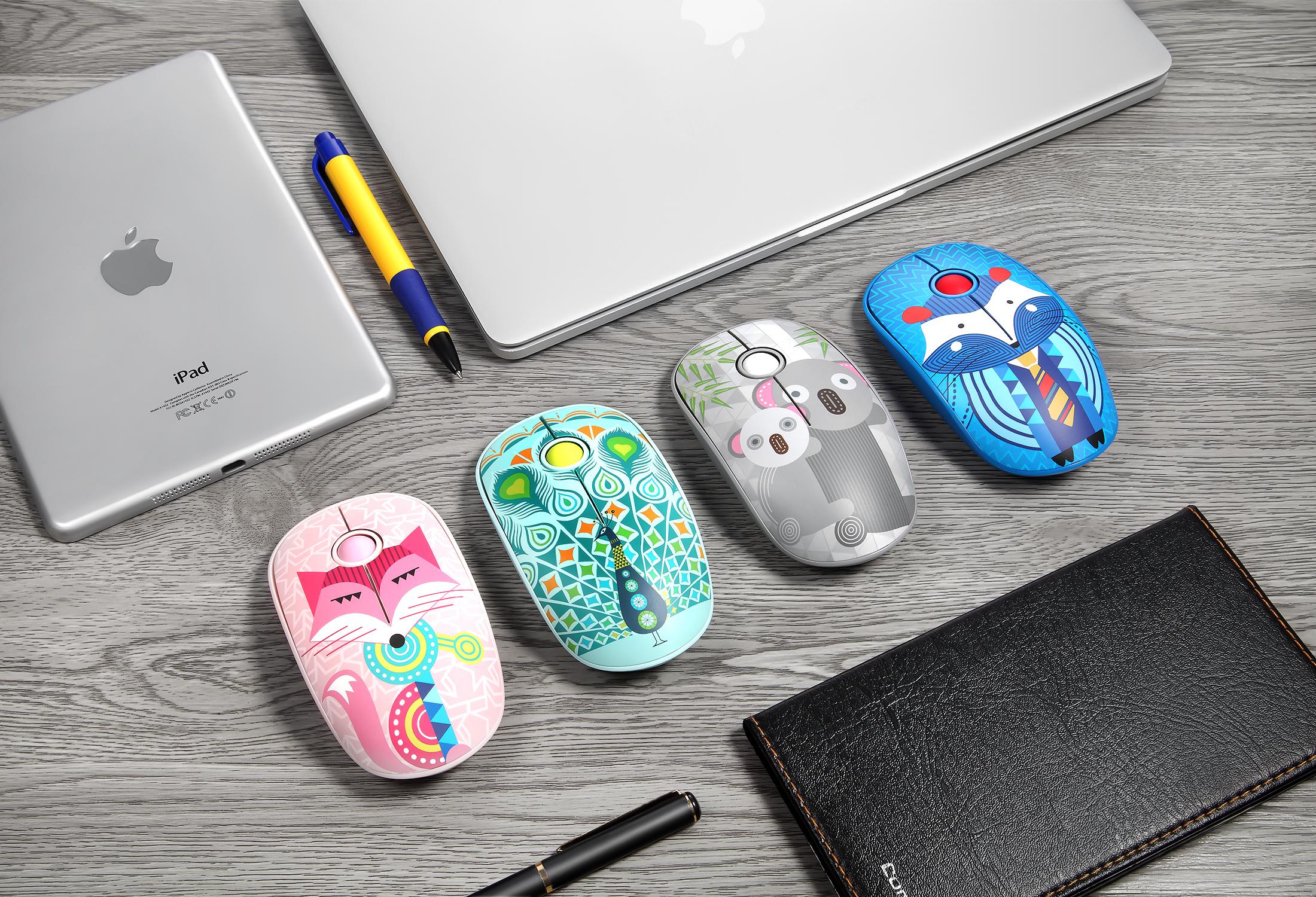 Chuột không dây Forder FD V8 - Mouse Wireless FD - V8 - Giao màu ngẫu nhiên - Hàng Chính Hãng