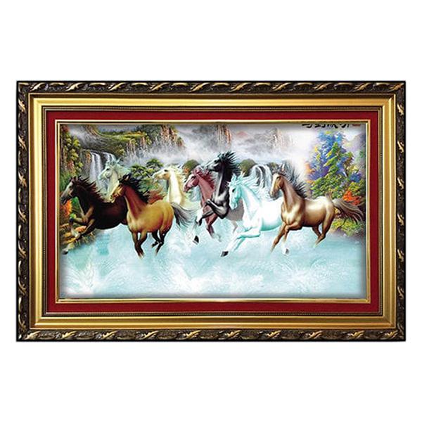 Tranh Con Ngựa - Tranh Treo Tường Bát Mã Đồ W647