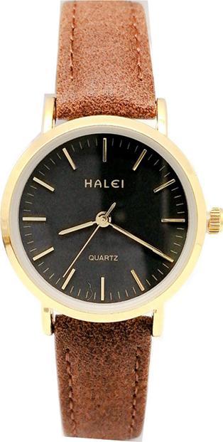 Đồng hồ Nữ Halei - HL541 Dây da nâu - Đen