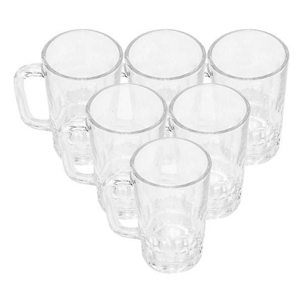 Bộ ly 6 cái Union Glass 999 Ly bia khía tròn 385 ml  không ngã màu, sản xuất Thái Lan