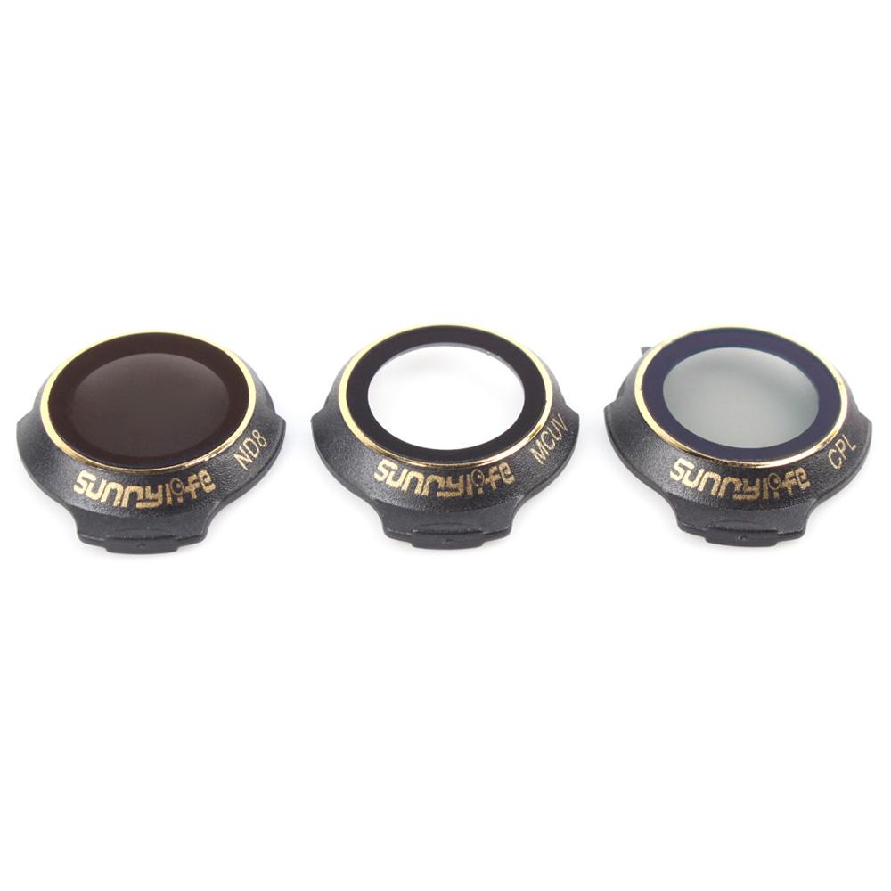 Bộ 3 filter CPL+ MCUV + ND8 – Hàng chính hãng Sunnylife