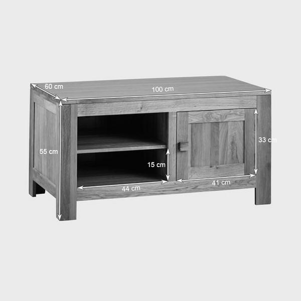 Tủ TV 1 Cánh Oakdale Gỗ Sồi Ibie LV1DALO (100 x 60 cm)