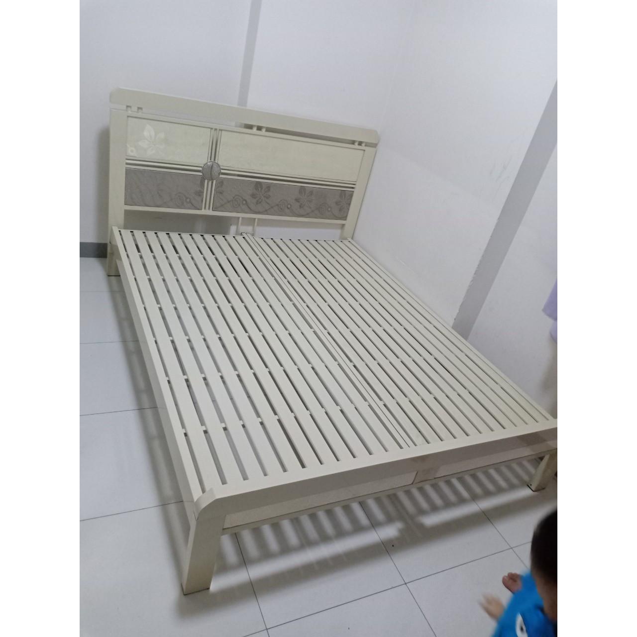 Giường sắt kiểu gỗ_LG06
