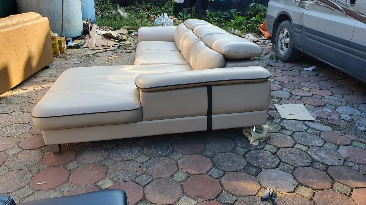 Sofa da phòng khách cao cấp MS001 2M8