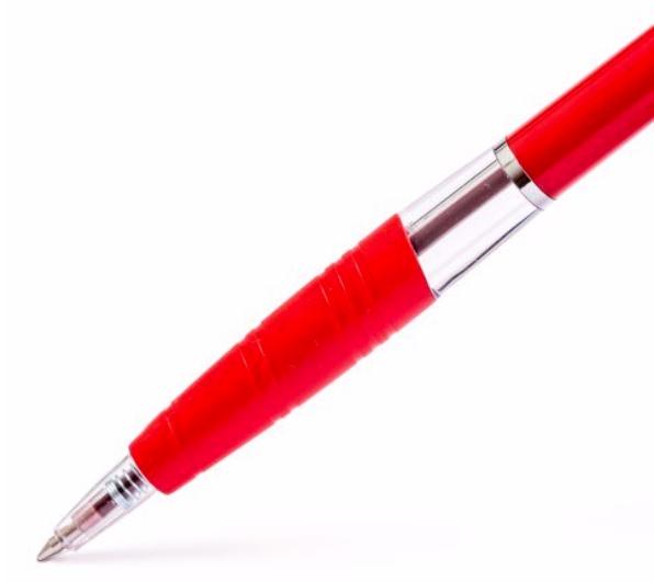 Bút Bi TL-047 - Mực Đỏ - Thân Đỏ