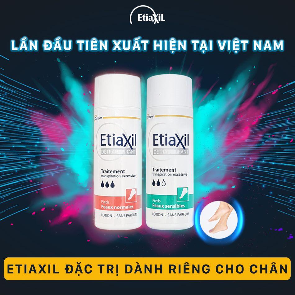 Lotion Khử Mùi, Ngăn Ngừa Mồ Hôi Tay, Chân Cho Da Nhạy Cảm Etiaxil 100ml +Tặng Kèm 1 Túi Lưới Rửa Mặt Tạo Bọt