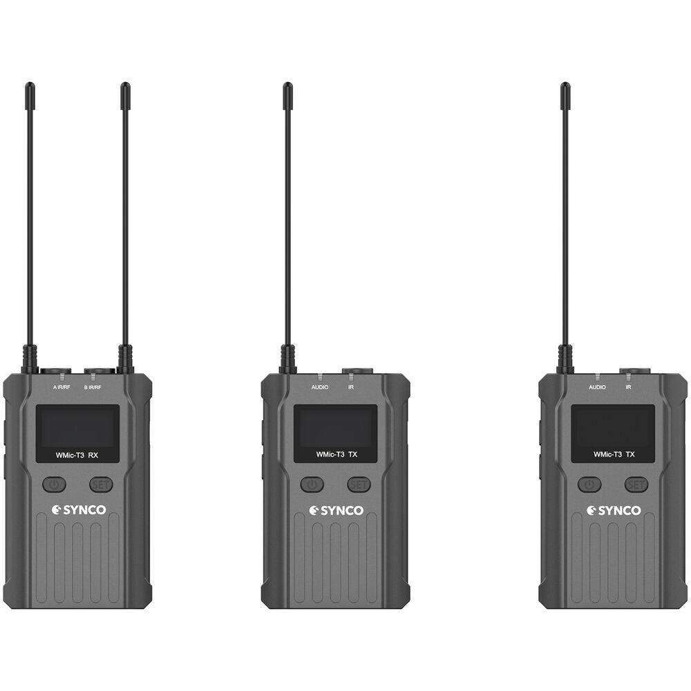 Micro không dây UHF SYNCO WMic-T3 cho quay phim, quay vlog, video YouTube, TikTok - Hàng chính hãng