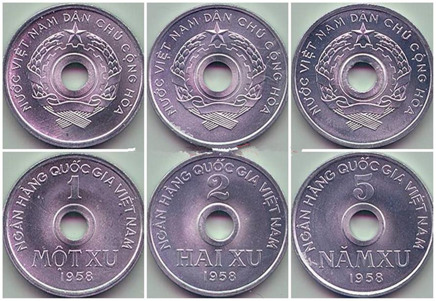 Bộ 3 xu Việt Nam Dân Chủ Cộng Hòa 1958 BXVNCH1958