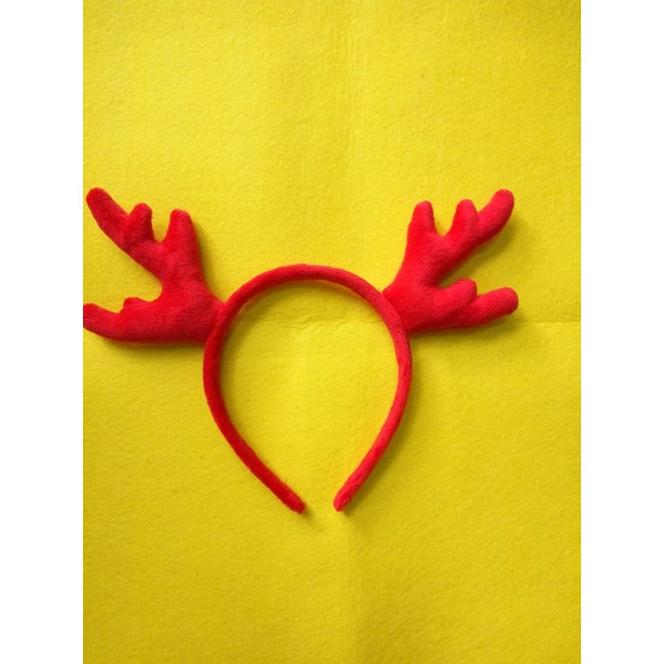 Băng Đô Sừng Tuần Lộc - Phụ Kiện Giáng Sinh - Đỏ