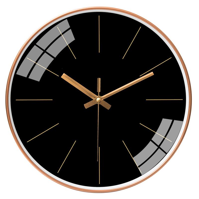 Đồng hồ treo tường tròn basic nền đen không số 30cm
