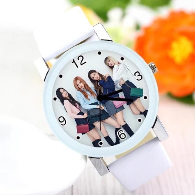 Đồng hồ nhóm nhạc Hàn Quốc Blackpink dây trắng