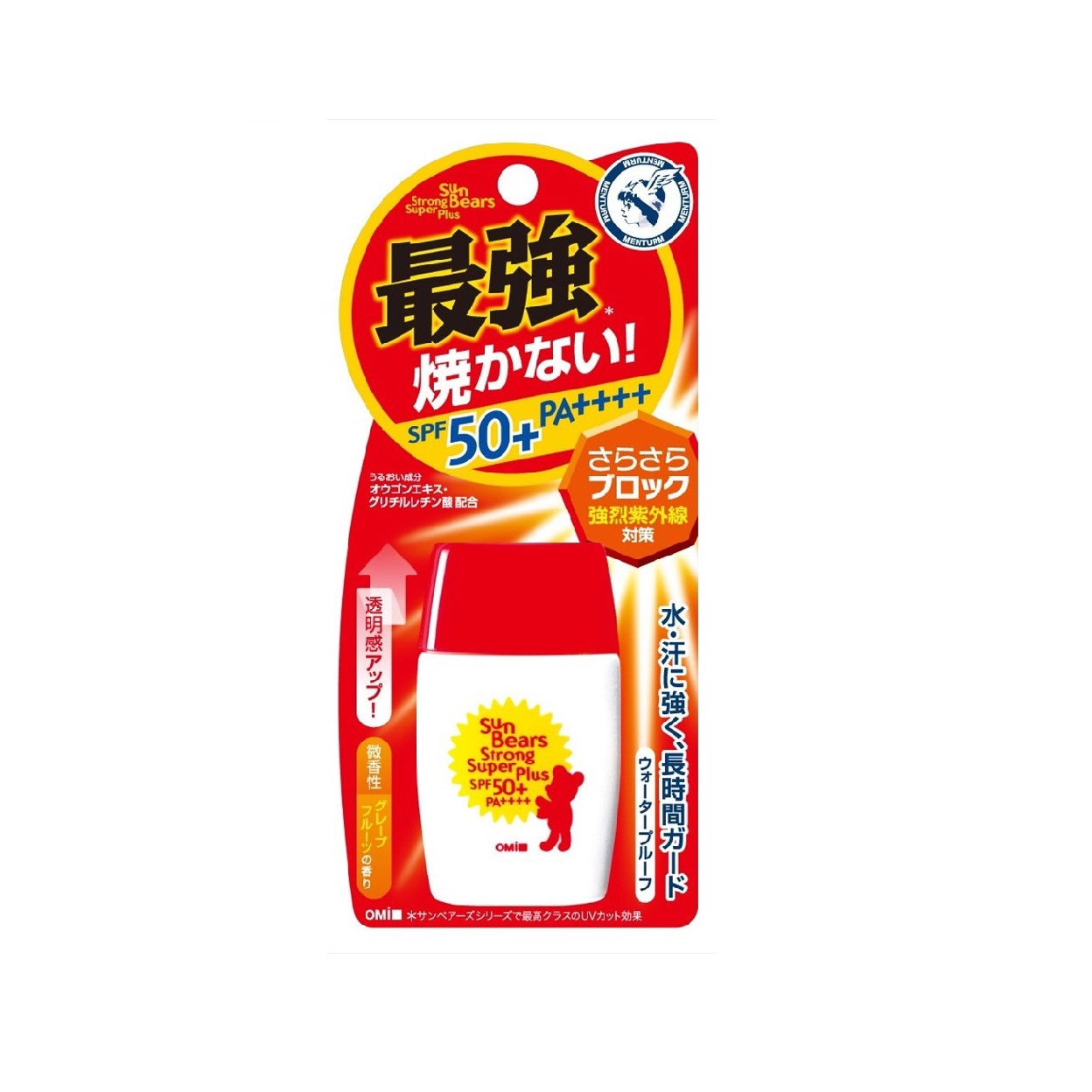 Kem chống nắng Omi Sun Bears Strong Super Plus SPF50+ PA++++ 30g (màu đỏ)