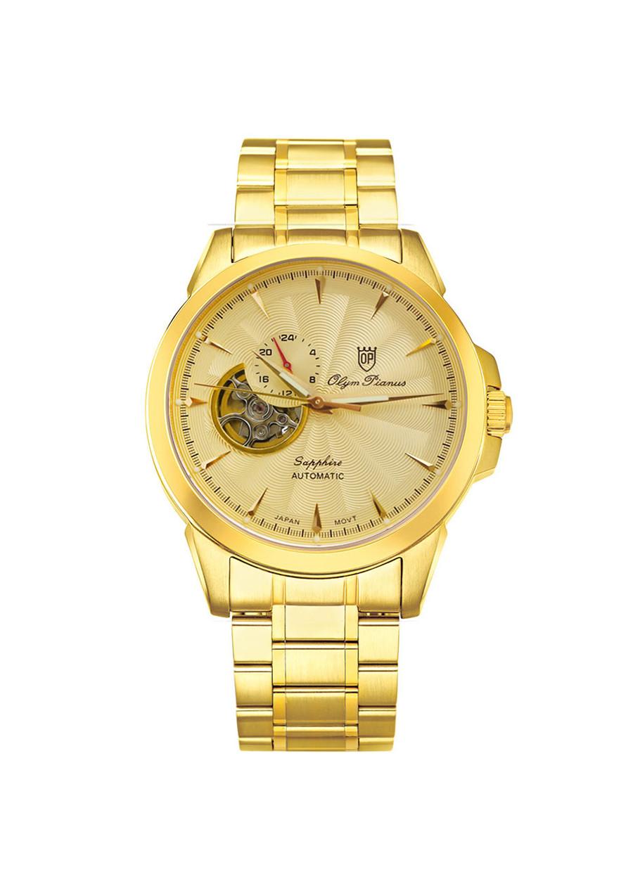 Đồng hồ nam dây kim loại Automatic Olym Pianus OP990-083AMK vàng