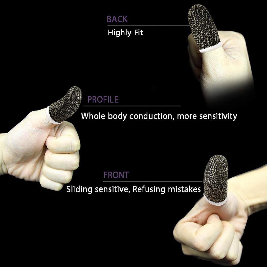 Bộ 2 bọc ngón tay cảm ứng chơi game mobile thoáng khí chống trượt ra mồ hôi và xây xước màn hình