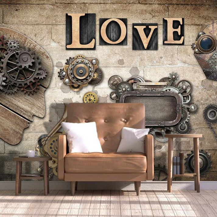 Tranh dán tường 3D chữ Love TC40