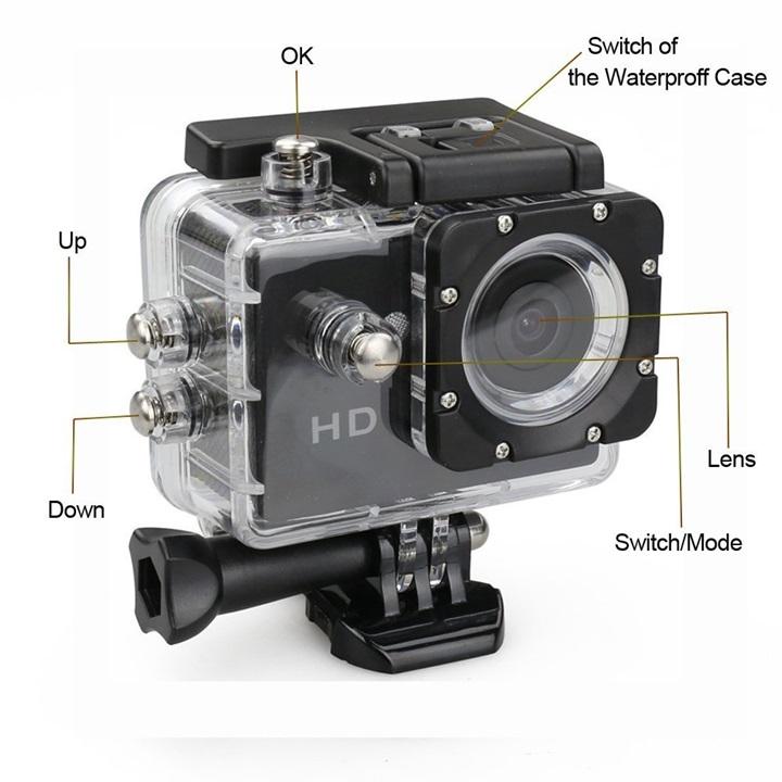 Camera hành trình chống nước Sport CAM FULL HD 1080P - Hàng nhập khẩu