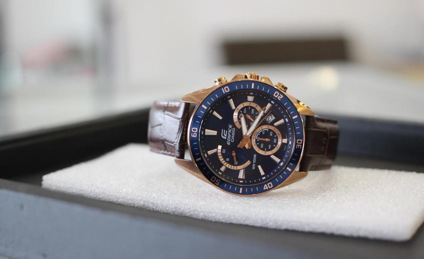 Đồng hồ nam dây da Casio EDIFICE EFR-552GL-2AVUDF