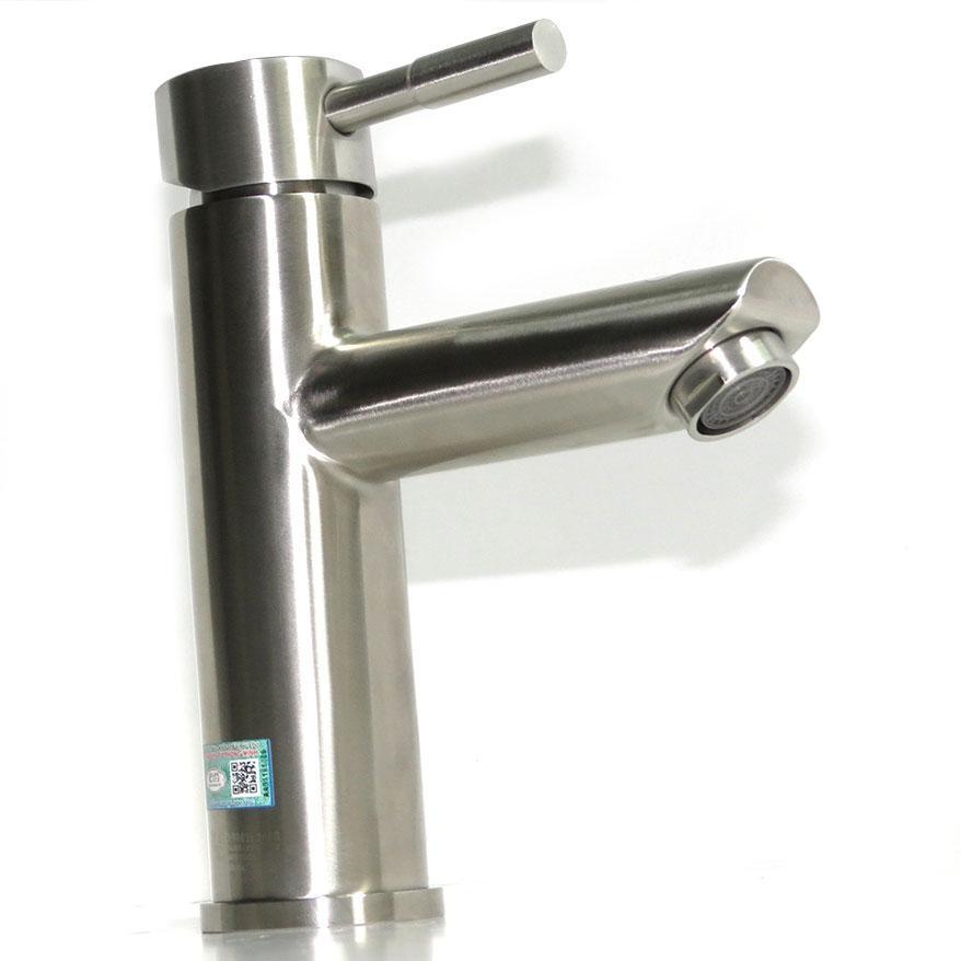 Vòi lavabo nóng lạnh Inox SUS 304 Eurolife EL-1202 (Trắng vàng)