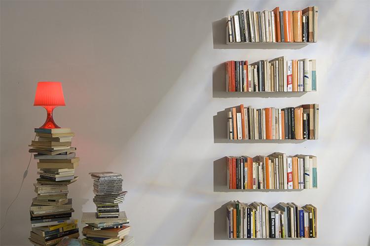 Combo 6 Kệ Sách Treo Tường Smlife Chữ U 45 (45 x 15 x 15 cm) - Đen