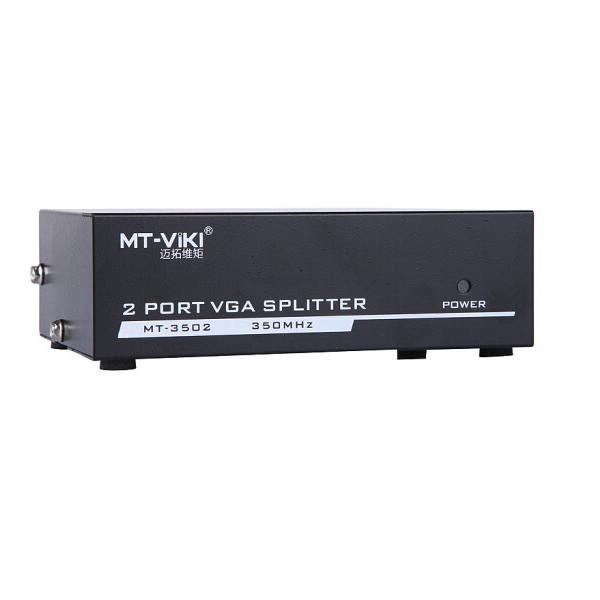 Bộ chia màn hình VGA 1 ra 2- 350Mhz (MT3502) VIKI - Chính Hãng