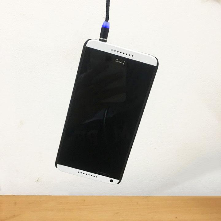 Cáp sạc từ hít nam châm 2 đầu Android và iPhone 360 độ