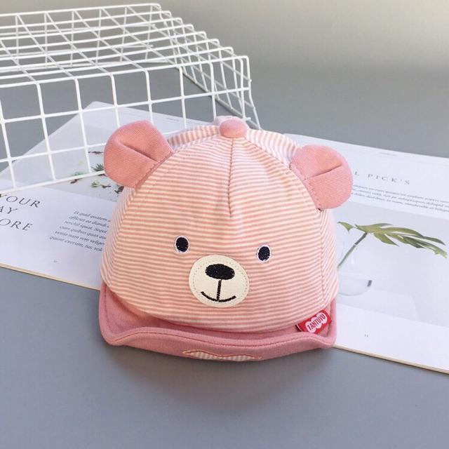 Mũ nón cho bé sơ sinh ️ Mũ lưỡi trai cho bé ️ Mũ nón cho bé trai bé gái hình gấu dễ thương ️ Mũ gấu cho bé