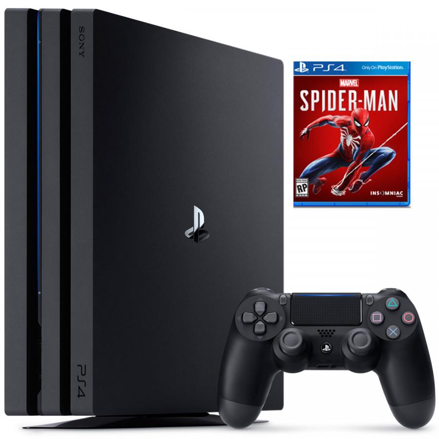 Bộ Ps4 Pro 1tb Model 7106b Kèm Đĩa Game Spiderman - Hàng Chính Hãng