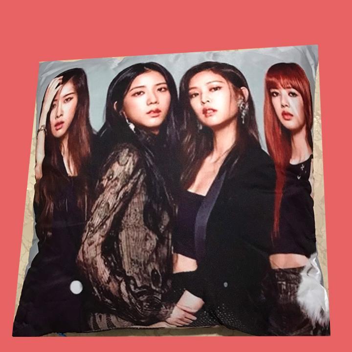 Gối Blackpink êm ái mềm mại nhóm thần tượng Hàn Quốc tặng ảnh thiết kế Vcone