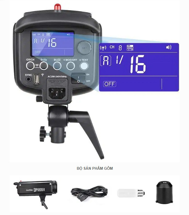 Đèn Flash studio Godox DP300II hàng chính hãng.