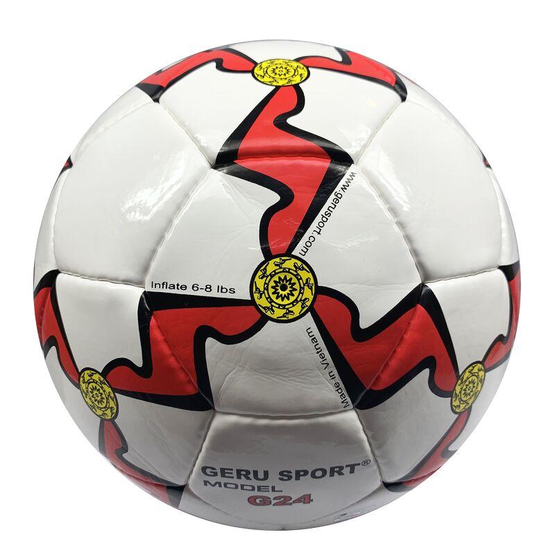 Bóng đá Gerustar Size 5 G24 - Đỏ (Tặng Băng dán thể thao + Kim bơm + Lưới đựng)