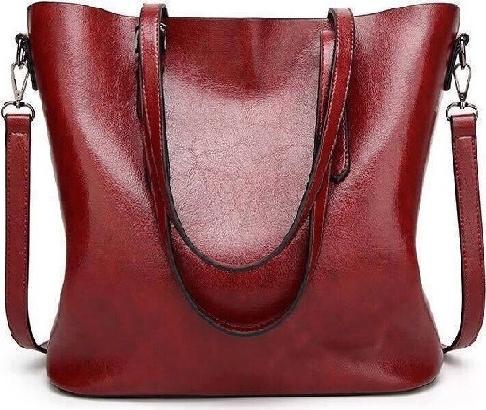 Túi xách tay nữ công sở da bò mẫu 2019, kích thước 32x29x12cm - Đỏ