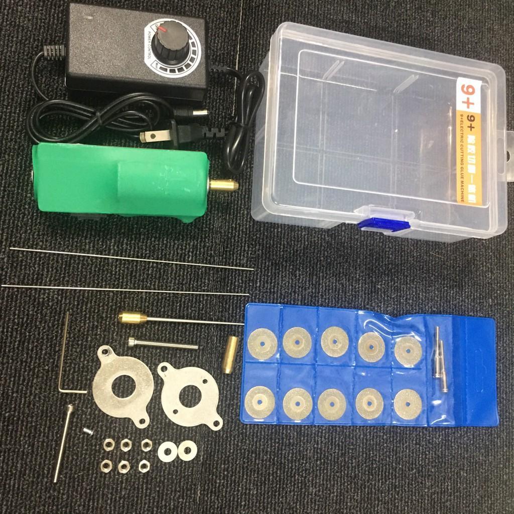 Combo máy quấn keo 9+ (3 in 1) và 10 lưỡi cắt