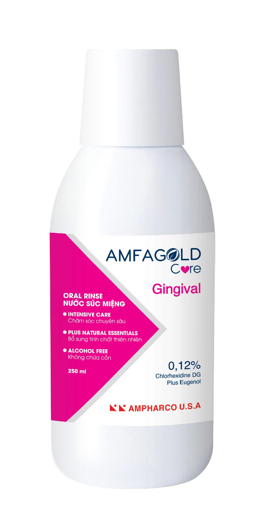 Nước Súc Miệng Chăm Sóc Chuyên Sâu  Amfagold Care Gingival 0.12% Chlorhexidine