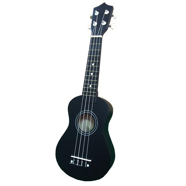 Đàn ukulele soprano đen dễ chơi dễ tập