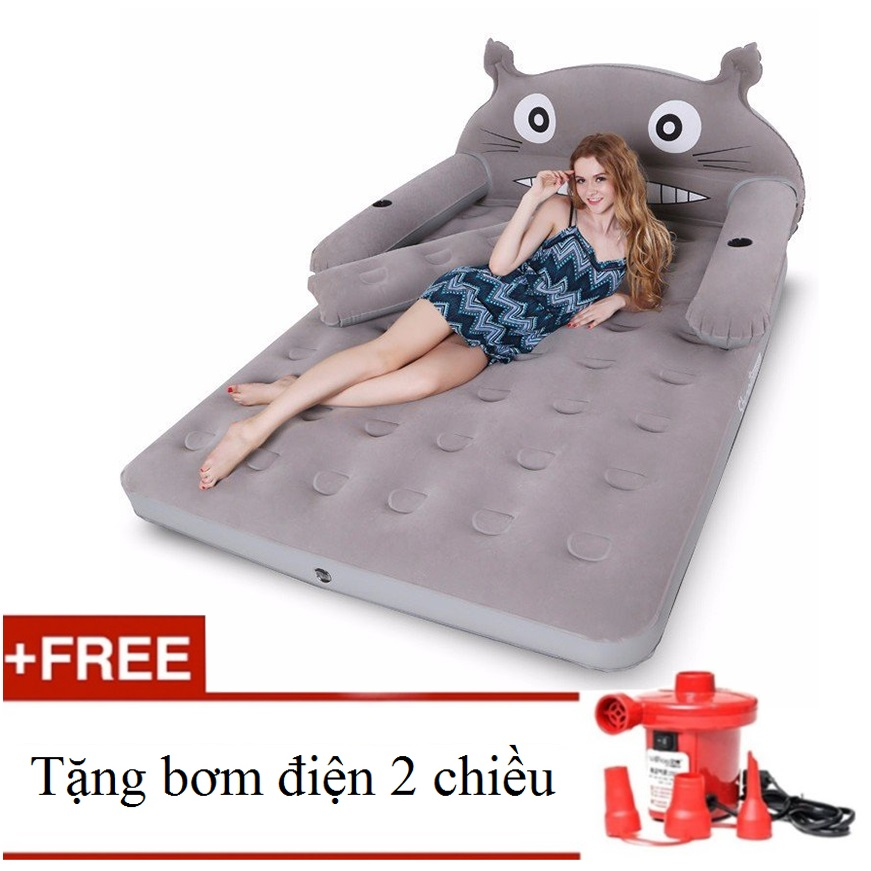 Giường hơi TOTORO - Tặng kèm bơm điện