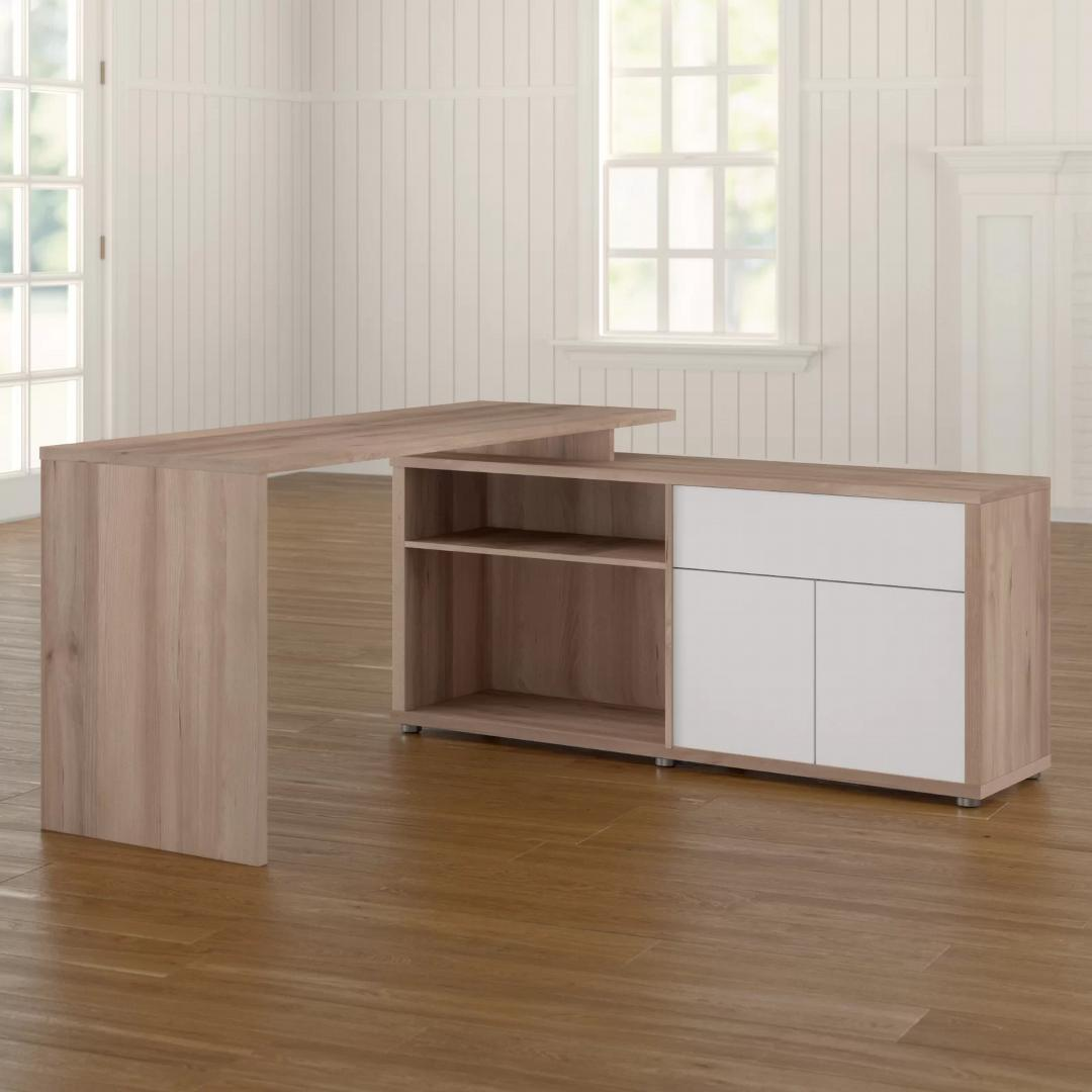 Bàn làm việc, bàn học gỗ hiện đại SMLIFE Dagen