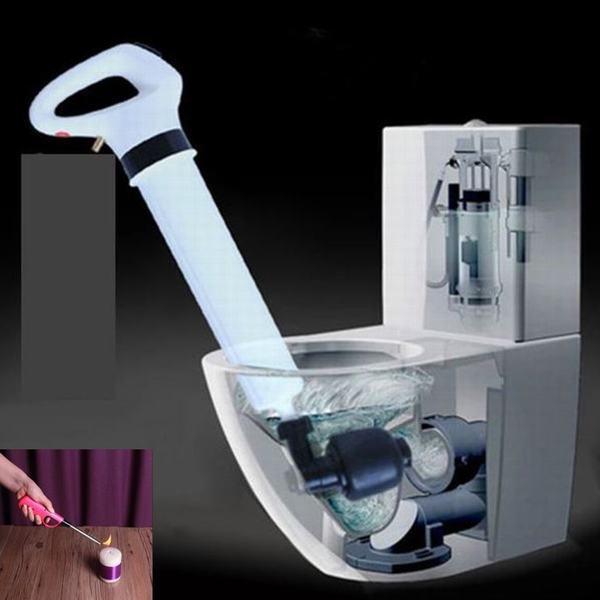Combo Súng tạo áp lực thông tắc bồn cầu, nhà vệ sinh đa năng cao cấp tặng 2 đèn LED ngủ cảm ứng ánh sáng