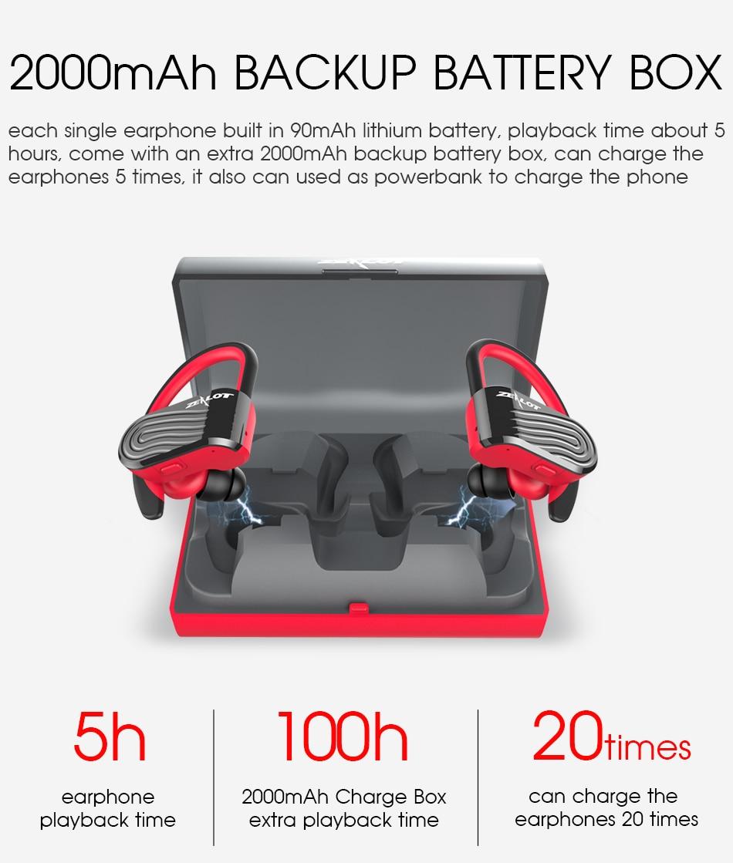 Tai nghe Bluetooth không dây cao cấp Zealot H10TWS - Hàng nhập khẩu