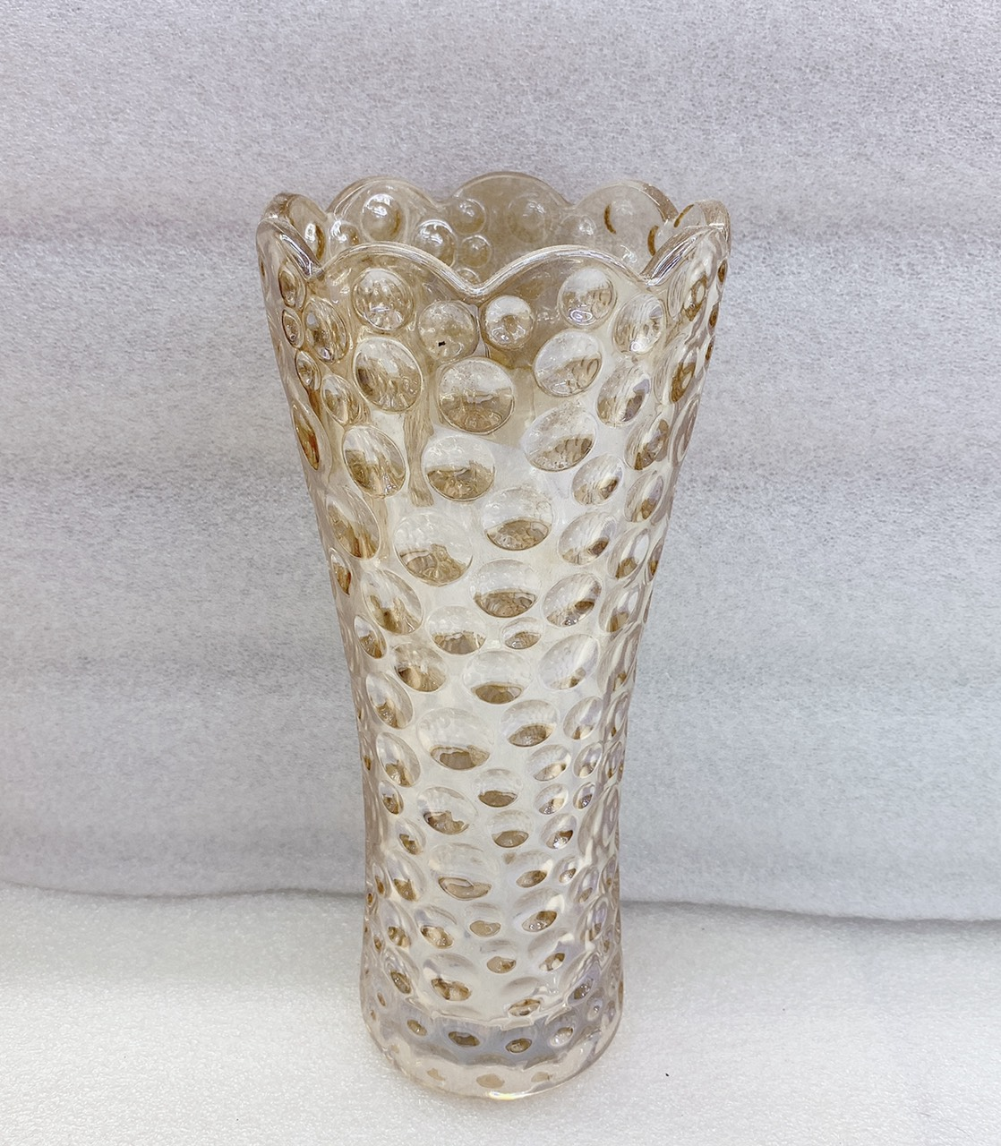 Bình cắm hoa thủy tinh màu ánh vàng cao cấp 30cm  - ANTH505