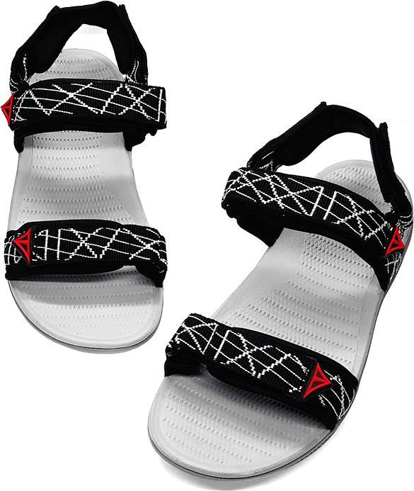 Sandal quai hậu nam Việt Thủy kiểu dáng thời trang (đen sọc trắng) - VT03